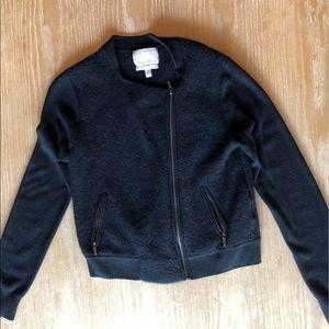 SUPER SOFT moto sweater | dark navy | Size M